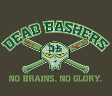 dead bashers no brains no glory t shirt Zombies Dead Bashers T Shirt from Red Bubble