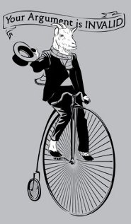 goat bike your argument is invalid t shirt Goat Bicycle Your Argument is Invalid T Shirt from Snorg Tees