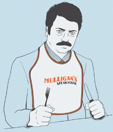 mulligans steakhouse t shirt Parks and Recreation Mulligans Steakhouse T Shirt from Busted Tees
