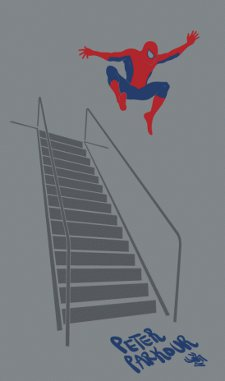 peter parkour t shirt Spiderman Peter Parkour T Shirt from Busted Tees