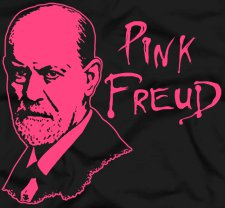 pink freud t shirt Sigmund Freud Pink Floyd Mashup Pink Freud T Shirt from Five Finger Tees