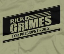 rick grimes for president 2012 t shirt The Walking Dead Rick Grimes For President 2012 T Shirt from Five Finger Tees