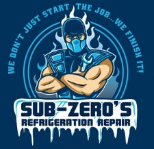 sub zeros refrigeration shop t shirt Mortal Kombat Sub Zeros Refrigeration Repair T Shirt from Tshirt Bordello