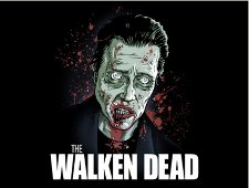 the walken dead t shirt Walken Dead T Shirt from Tshirt Bordello