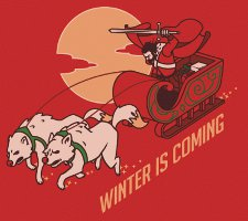winter is coming t shirt Game of Thrones Santas Sleigh Winter is Coming T Shirt from Busted Tees