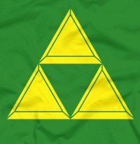 zelda triforce t shirt Legend of Zelda Triforce T Shirt from Five Finger Tees