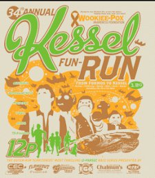 34th annual kessel fun run t shirt Star Wars 34th Annual Kessel Fun Run T Shirt from Tshirt Bordello