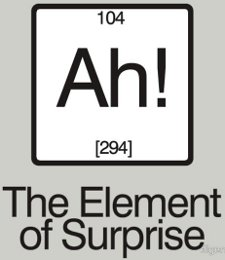 ah the element of surprise t shirt Ah The Element of Suprise T Shirt from Red Bubble