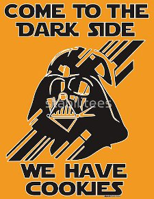 come to the dark side we have cookies t shirt Star Wars Darth Vader Come To the Dark Side We Have Cookies T shirt from Red Bubble