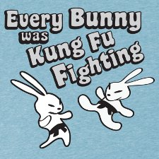 every bunny was kung fu fighting t shirt Every Bunny Was Kung Fu Fighting T Shirt from Look at Me Shirts