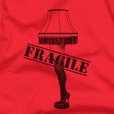 leg lamp t shirt A Christmas Story Leg Lamp T Shirt from Five Finger Tees