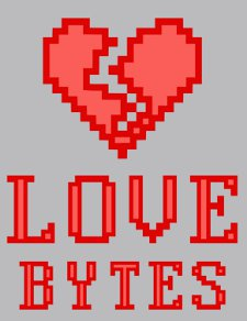 love bytes t shirt Love Bytes T Shirt from Snorg Tees
