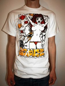 manga girl vs robot t shirt Girl Vs. Robot T Shirt from Pistache