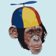 propeller beanie chimp t shirt Propeller Beanie Chimp T Shirt from Tee Tower
