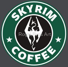 skyrim coffee t shirt Starbucks Skyrim Coffee T Shirt from Red Bubble