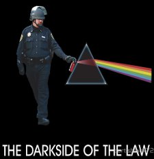 th darkside of the law t shirt Pink Floyd The Darkside of the Law Pepper Spray Cop T Shirt from Red Bubble