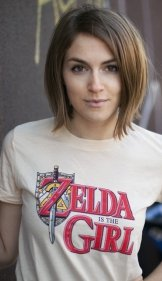 zelda is the girl t shirt Legend of Zelda Zelda is a Girl T Shirt from Busted Tees