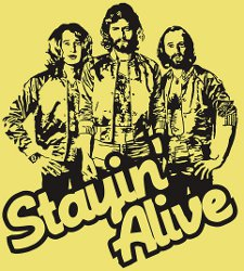 bee gees stayin alive t shirt The Bee Gees Stayin Alive T Shirt from Red Bubble