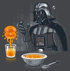 darth vader orange juice t shirt Darth Vader Squeezes Orange Juice T Shirt from 604 Republic