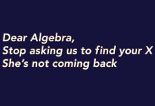 dear algebra x t shirt Dear Algebra Stop Asking Us to Find Your X Shes Not Coming Back T Shirt from Snorg Tees