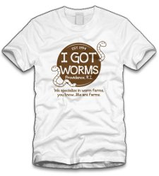 i got worms t shirt Dumb and Dumber I Got Worms T Shirt from Five Finger Tees