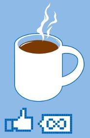 infinity people like coffee t shirt1 Infinity People Like Coffee T Shirt from Snorg Tees