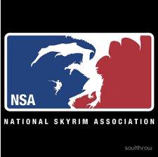 national skyrim association t shirt National Skyrim Association T Shirt from Red Bubble