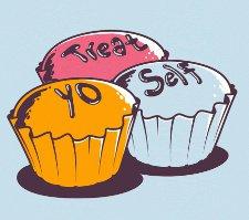 treat yo self t shirt Parks and Recreation Cupcakes Treat Yo Self T Shirt from Busted Tees