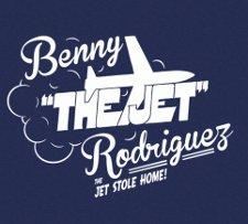 benny the jet rodriguez t shirt The Sandlot Benny The Jet Rodriguez T Shirt from Busted Tees