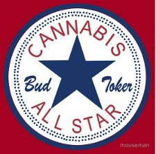 cannabis all stars t shirt Bud Toker Cannabis All Star T Shirt from Red Bubble