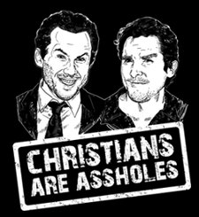 christians are assholes t shirt Christian Bale Christian Slater Christians Are Assholes T Shirt from T Shirt Hell