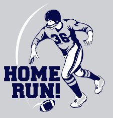 football home run t shirt Football Home Run T Shirt from Snorg Tees
