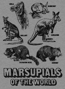 marsupials of the world t shirt Marsupials of the World T Shirt from Busted Tees