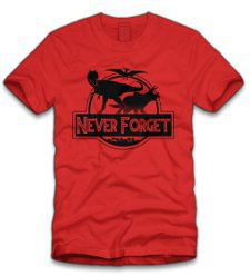 never forget t shirt Never Forget Dinosaurs T Shirt from Five Finger Tees