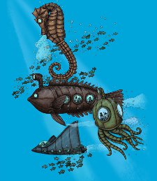 submarine menagerie t shirt Submarine Menagerie T Shirt from Deez Teez