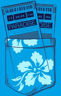 two tickets to paradise t shirt Two Tickets to Paradise T Shirt from Deez Teez