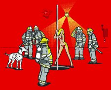 wrong pole t shirt Pole Dancer Firefighters Pole Wrong Pole T Shirt from Deez Teez