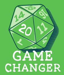 20 sided die game changer t shirt 20 Sided Die: Game Changer T Shirt from Snorg Tees