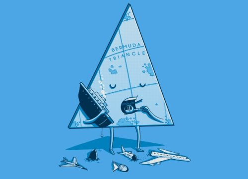bermuda triangle t shirt Top 50 Funny Threadless T Shirts