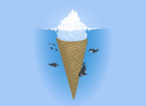 hidden part of icebergs t shirt Top 50 Funny Threadless T Shirts