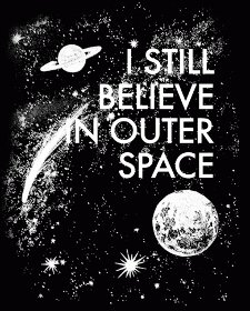 i still believe in outer space t shirt I Still Believe in Outer Space T Shirt from Busted Tees