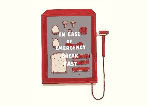 in case of emergency breakfast t shirt Top 50 Funny Threadless T Shirts