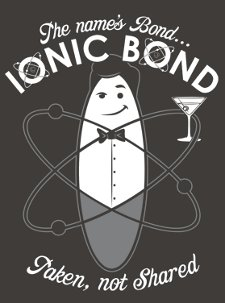 ionic bond t shirt The Names Bond Ionic Bond T Shirt from Snorg Tees