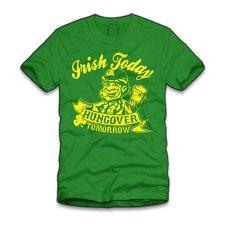 irish today hungover tomorrow t shirt Irish Today Hungover Tomorrow T Shirt from Five Finger Tees