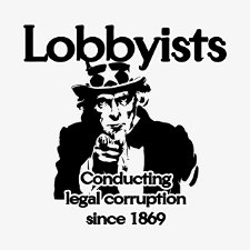 lobbyists t shirt Lobbyists Conducting Legal Corruption Since 1869 T Shirt from Banished Shirts