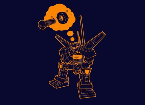 lonely robot dirty mind t shirt Top 50 Funny Threadless T Shirts
