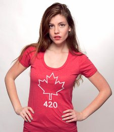 maple leaf 420 t shirt Canadian Flag Maple Leaf 420 T Shirt