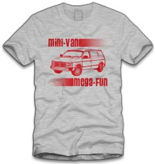 mini van mega fun t shirt Mini Van Mega Fun T Shirt from Five Finger Tees