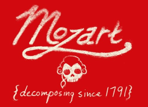 mozart decomposing since 1791 t shirt Top 50 Funny Threadless T Shirts