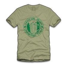 official irish drinking team t shirt Official Irish Drinking Team T Shirt from Five Finger Tees